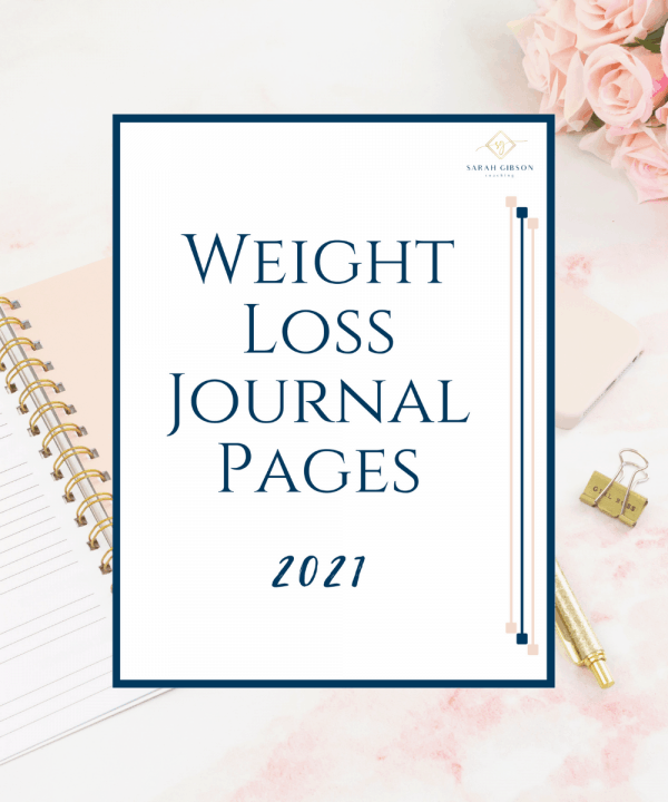 Weight loss Journal pages