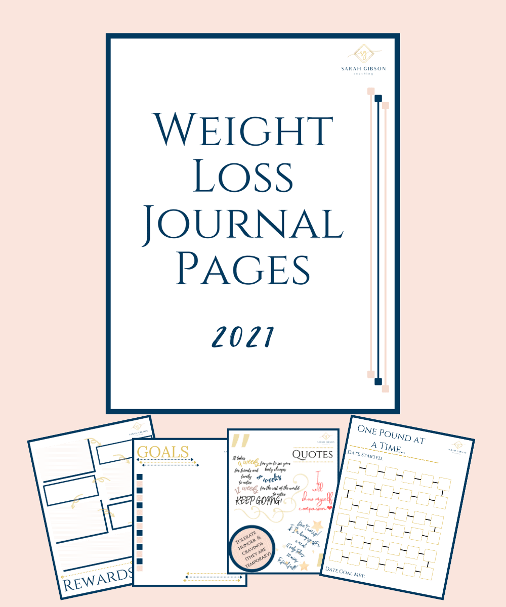 weight loss journal pages printable bullet journal