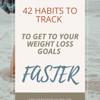 habits to track for weight loss
